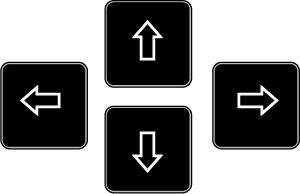 矢印 キーボード